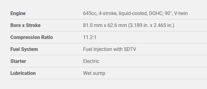 suzuki sv650 Engine Specs