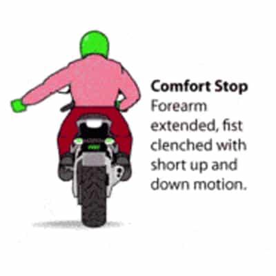 Motorcycle Comfort Stop
