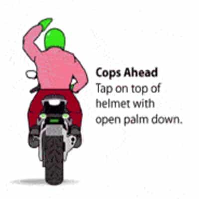 Motorbike Cops Forward