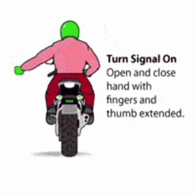 Motorcycle Turn Signal On